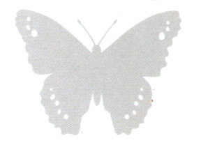 WAL 00004 Window Alert Butterfly Decal Set