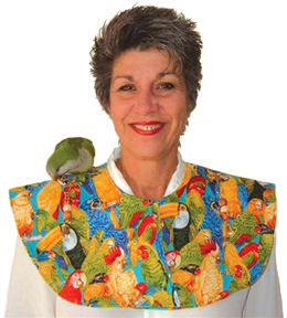 BBP 00101 Bird Shoulder Cape - Parrot Print