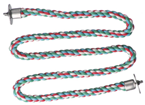 CAI 00384 Zigzag Cotton Rope Perch XS 3/8""