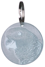FUN 720 African Grey Key Chain
