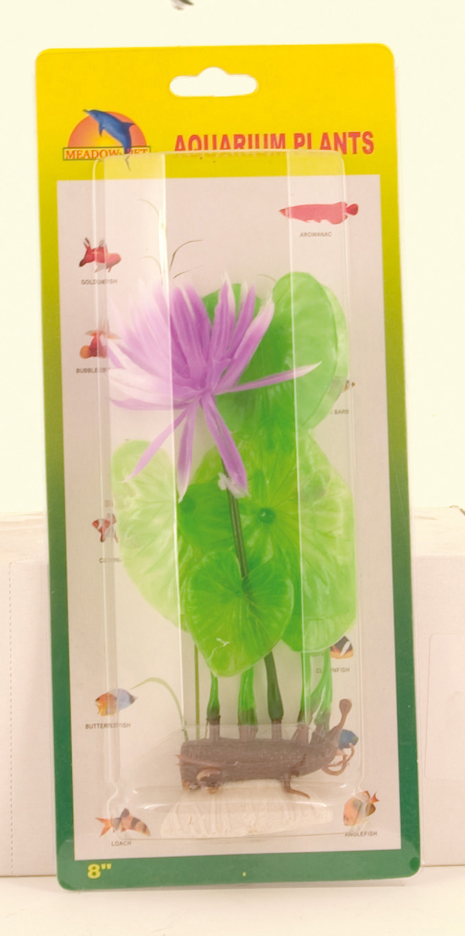 Plastic Plant Decor - Pink Water Lily 20cm