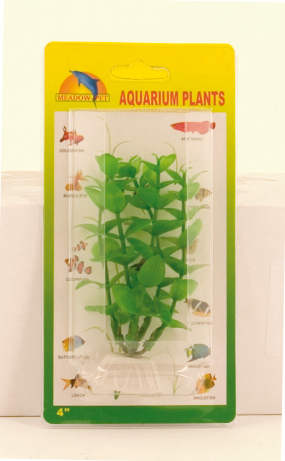 Plastic Plant Decor - Green Ludwigia 10cm