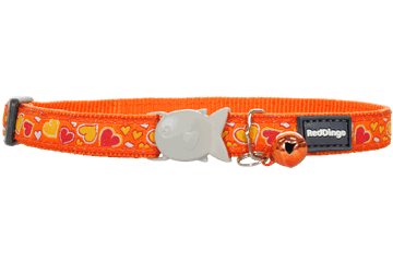 Red Dingo Cat Collar - Breezy Love Orange