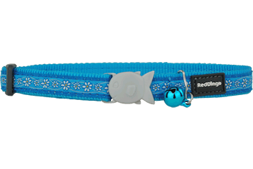 Red Dingo Cat Collar - Daisy Chain Turquoise
