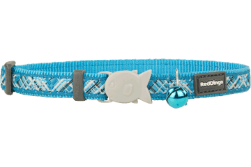 Red Dingo Cat Collar - Flanno Turquoise
