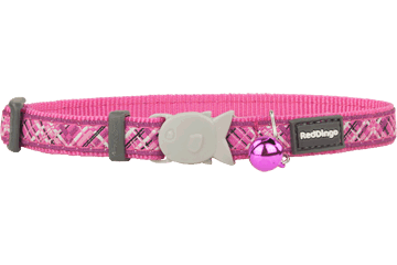 Red Dingo Cat Collar - Flanno Hot Pink