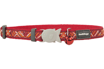 Red Dingo Cat Collar - Flanno Red
