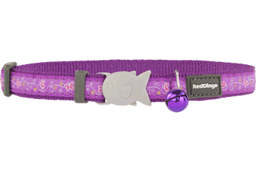 Red Dingo Cat Collar - Butterfly Purple