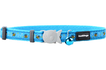 Red Dingo Cat Collar - Bumble Bee Turquoise
