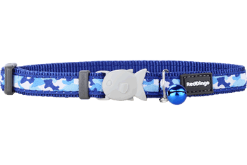 Red Dingo Cat Collar - Camouflage Navy