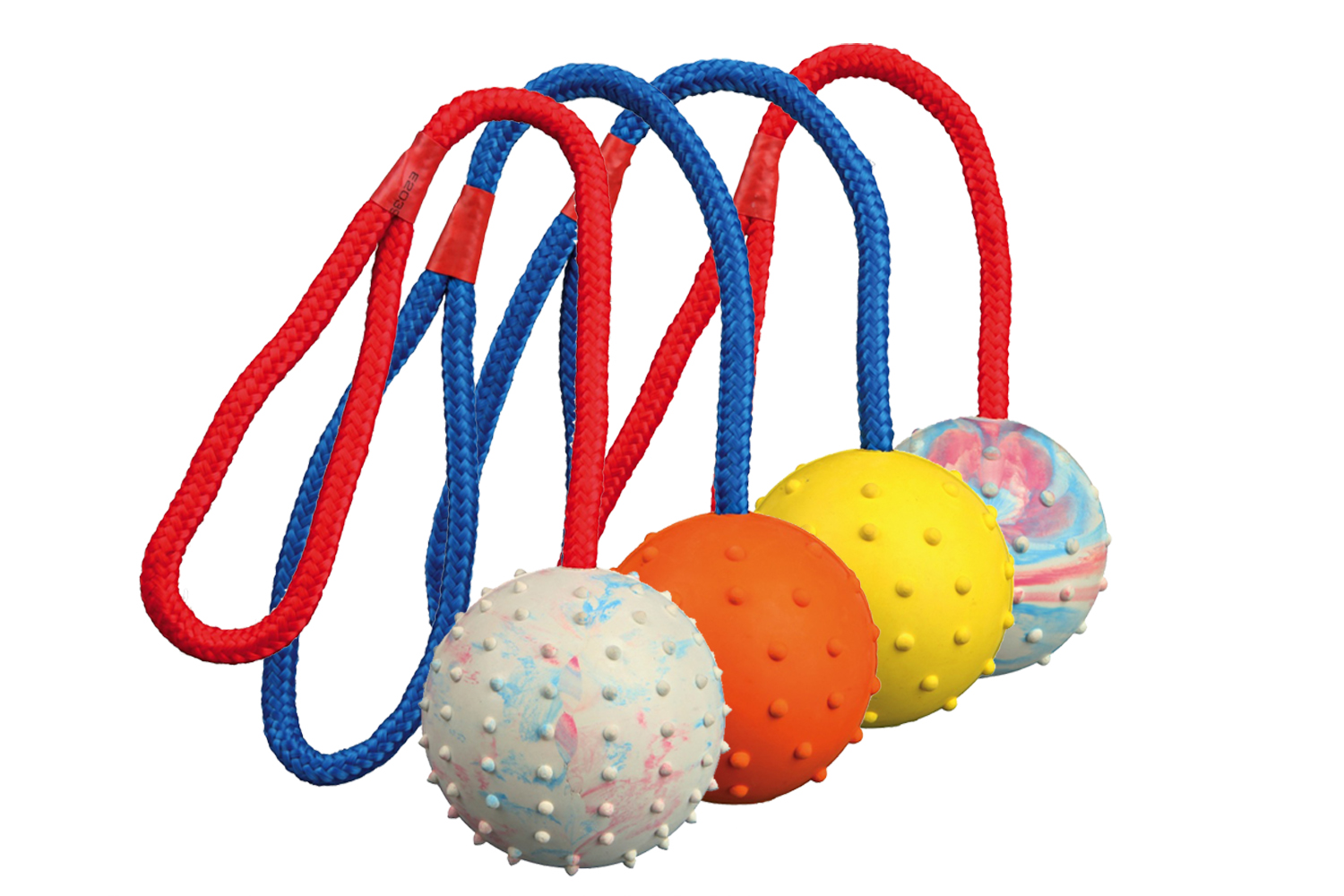 Rubber Ball on Rope 6cm
