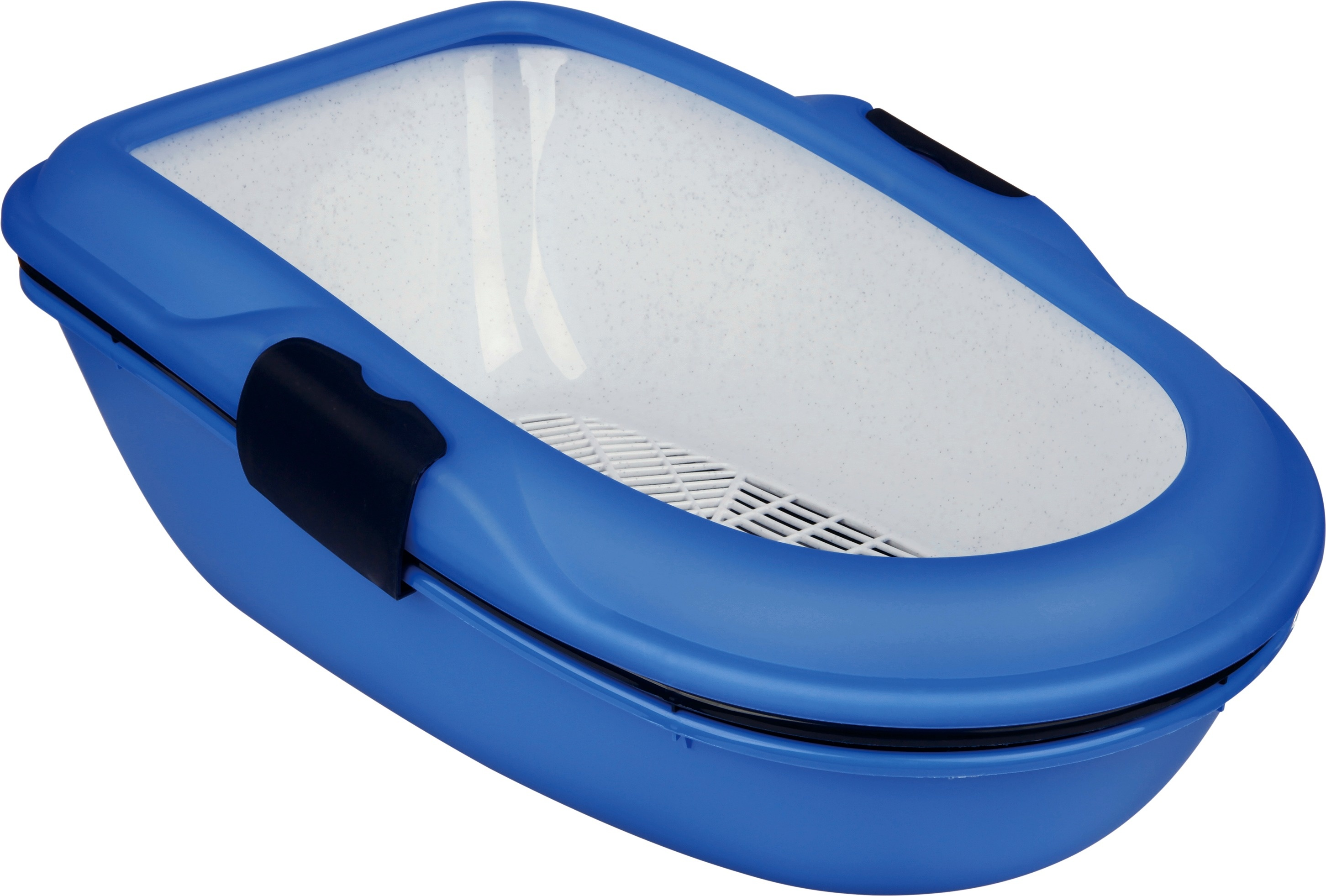 Berto Cat Litter Tray - Blue/black