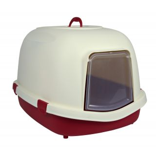 Primo XL Top Litter Tray w/Hood - Bordeaux/Cream