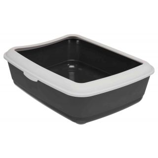 Classic Litter Tray w/Rim - Dark Grey/Light Grey