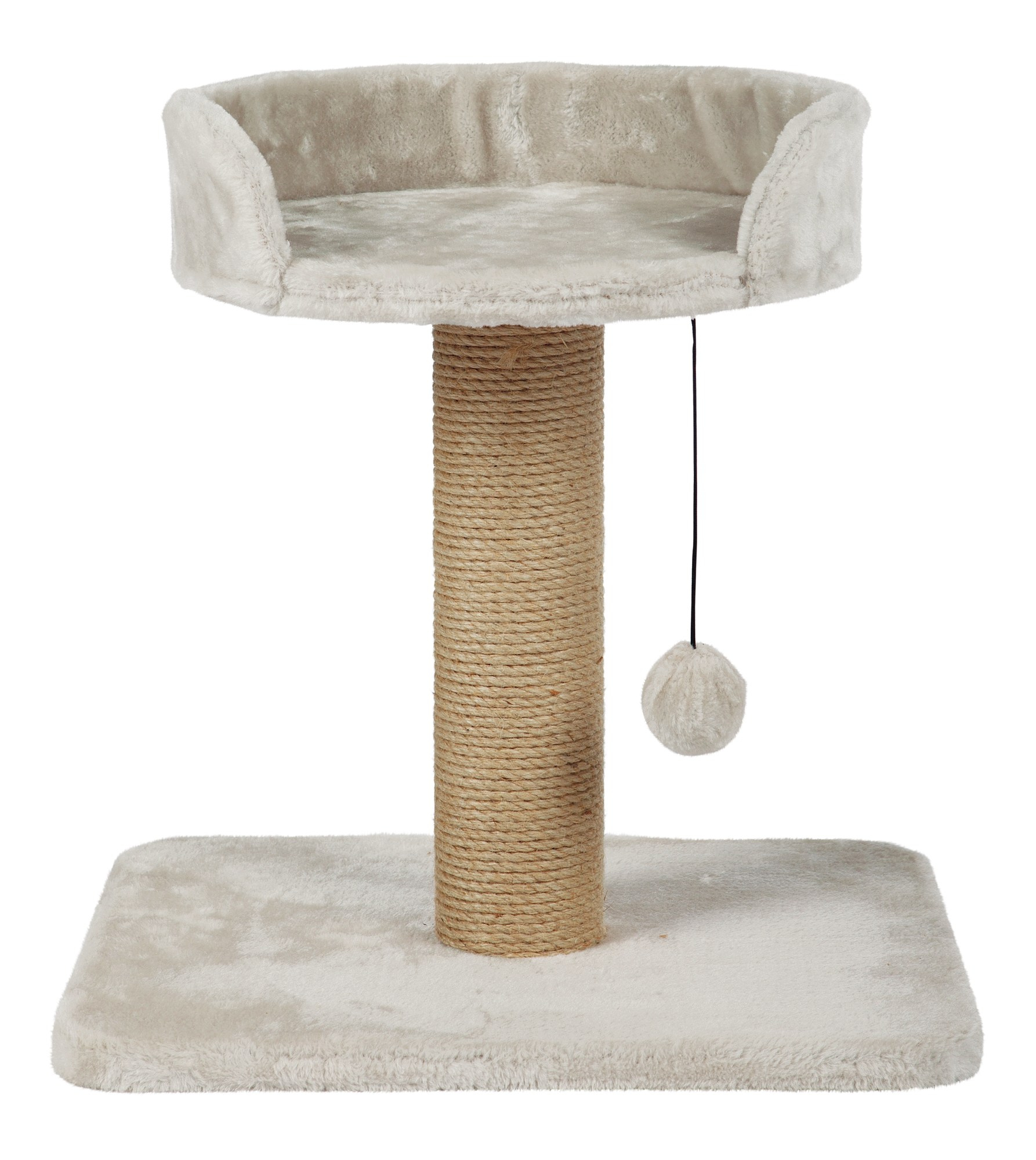 Mica Scratching Post - Light Grey