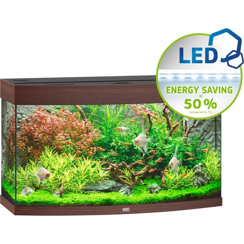 Vision 180 Aquarium - Dark Wood LED