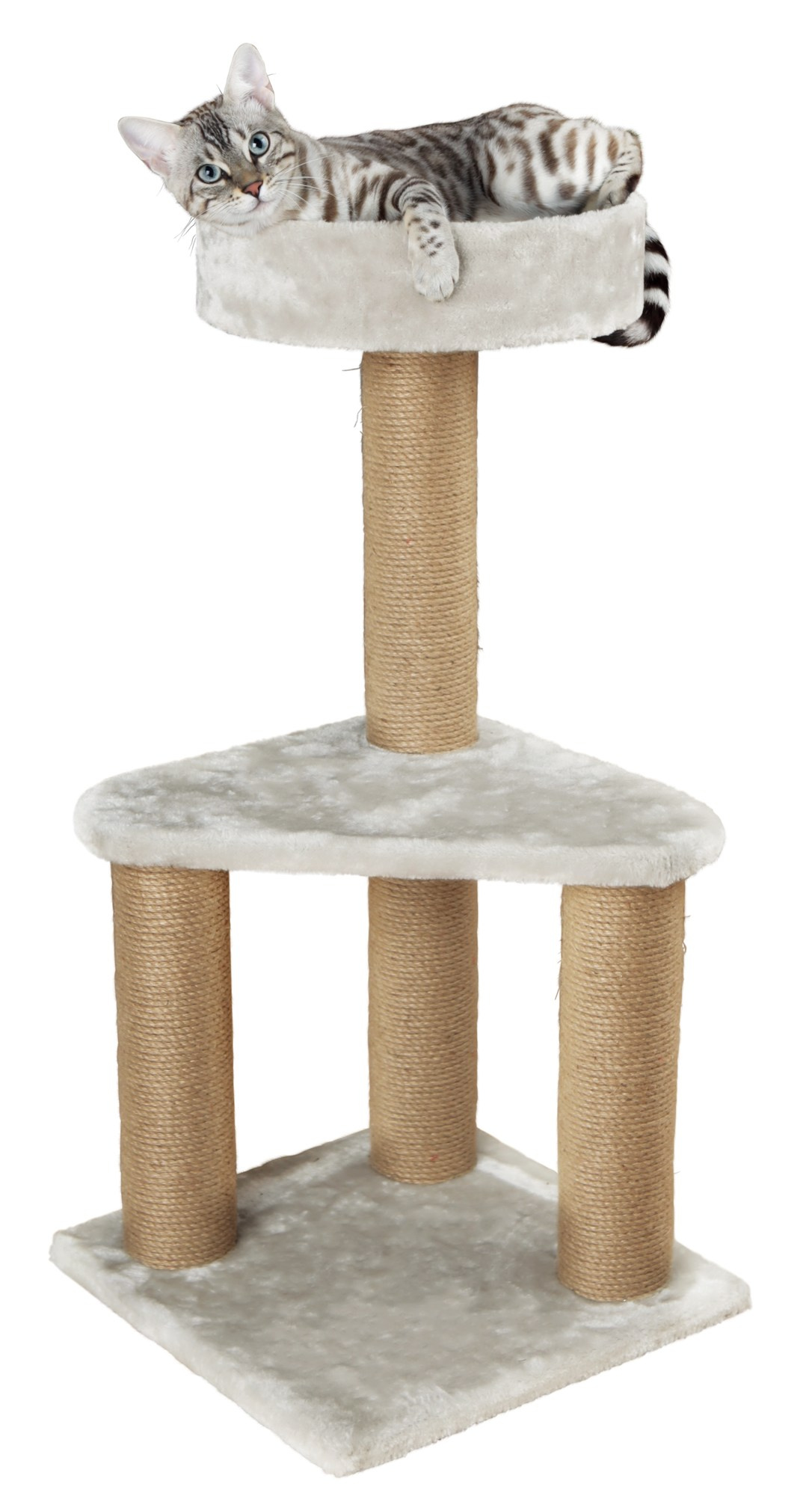 Ivan Scratching Post - Light Grey