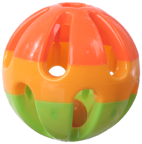 "KCI 16502 (K502) 3"" Rattle Ball Foot Toy"