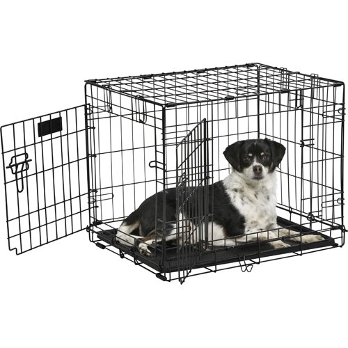 iCrate Coated 2 Door Wire Cage S - Black