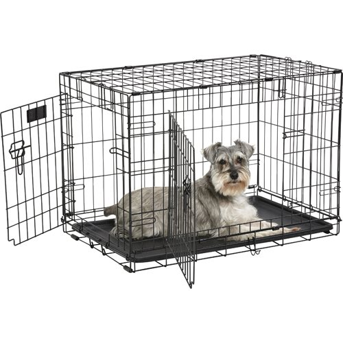 iCrate Coated 2 Door Wire Cage M - Black