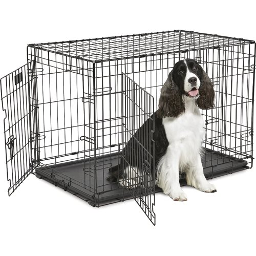 iCrate Coated 2 Door Wire Cage L - Black