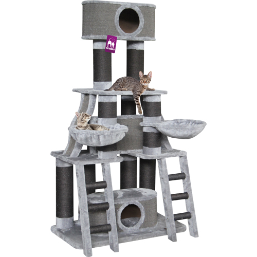 Petrebels Skyline Scratching Post - Grey