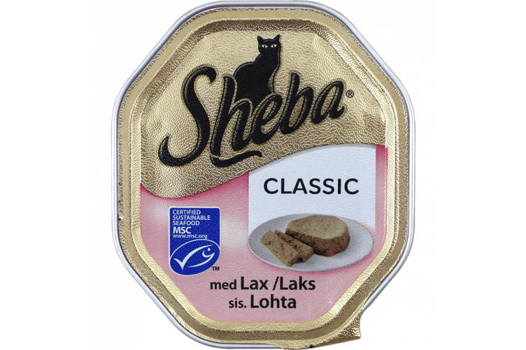 Sheba Salmon in Mousse Wet Food - 22x85g