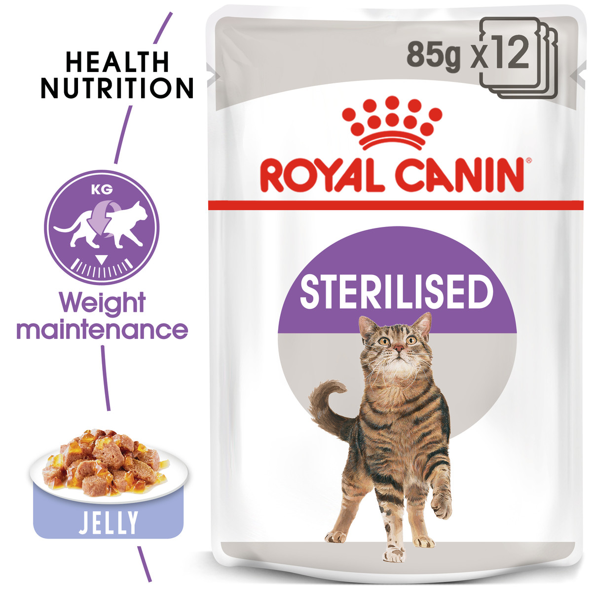RC Feline Adult Sterilised Wet Cat Food - 12x85g