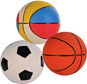 Assortment Toy Balls f/Dogs 13cm - x4