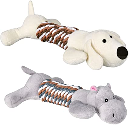 Assortment Animals w/Rope 32cm - x4