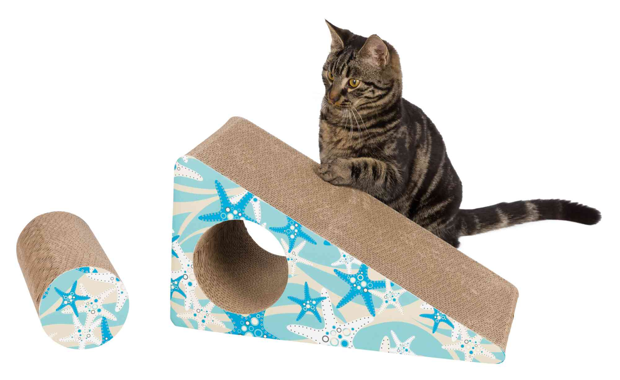 Mimi Scratching Ramp - Turquoise