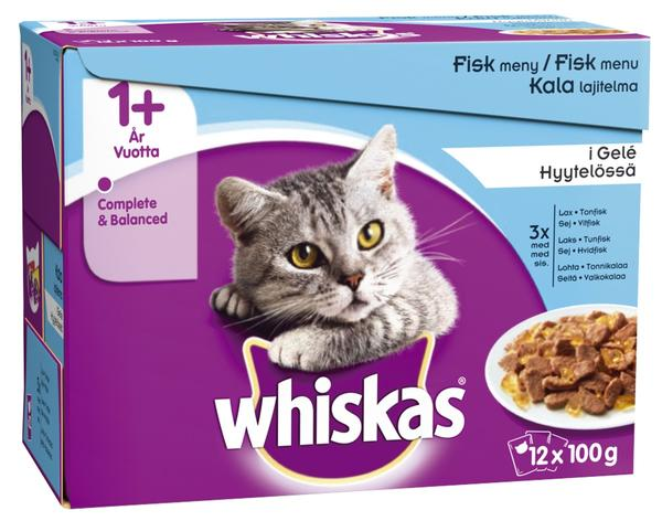 Whiskas +1 Fish Selection in Jelly Wet Food - 12x100g