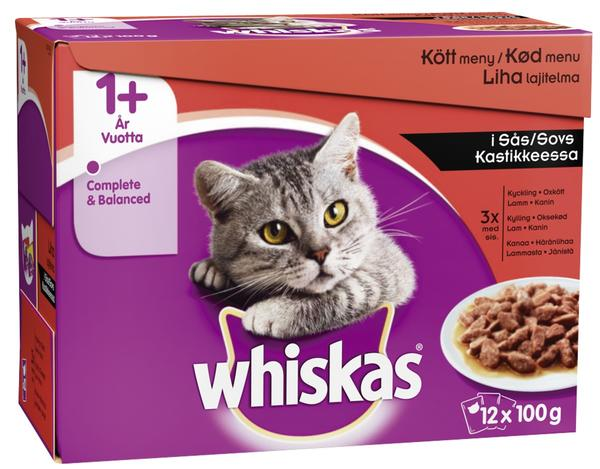 Whiskas +1 Meaty Selection in Gravy Wet Food - 12x100g